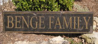 BENGE FAMILY NAME SIGN   Personalized Lastname Painted Wooden Sign