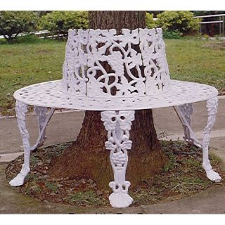 JJ International Garden Lite Grape Tree Bench Aluminum