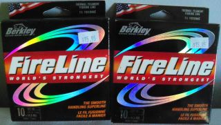 Berkley Fireline Fishing Line 10lb 125yd Qty 2 w Free Fishing Bell