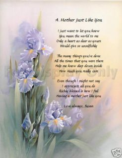 Personalized Poem for Mom Birthday or Mothers Day Gift