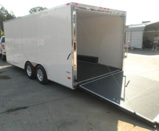 18 4 WHEELER SNOWMOBILE CAR HAULER BIKE ENCLOSED TRAILER 7000LB