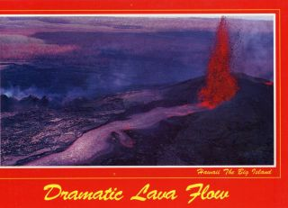 Dramatic Lava Flow Hawaii The Big Island 1990 Used Postcard