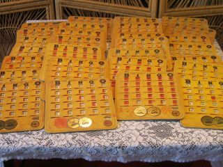 28 Vintage Pla Mor Bingo Boards Bingo King Heavy Cardboard Made In The