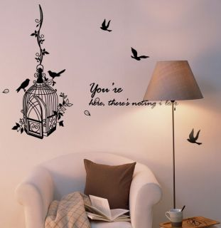 Bird Cage Art Vinyl Decor Wall Paper Sticker Decal 160