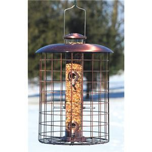 Woodlink Squirrel Proof Brushed Copper Seed Tube Bird Feeder Free