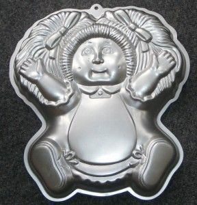 1984 Vintage Cabbage Patch Kids Wilton Birthday Cake Pan 2105 1984