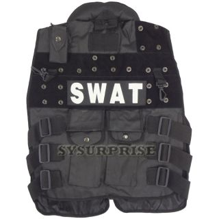 Black Ops Tactical Chest Combat Assault Vest Halloween Costume