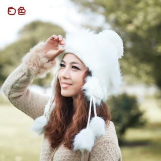246 4WHITE Christmas Halloween Gift Lady Girl Winter Hat Warm Woolen