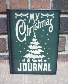 Prim Style Blank My Christmas Journal Recipe Book 168 Lined Pages HP