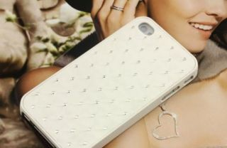 New White Star Bling Crystal Rhinestone Plastic Hard Case Cover iPhone