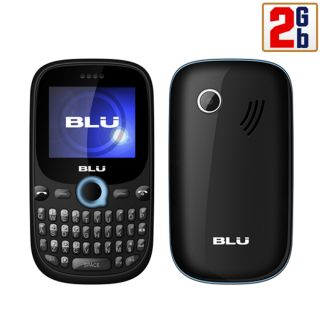 Unlocked New Blu Samba Q Q110 2GB Blue Dual Sim Keyboard Quadband at T