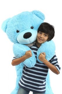 Giant Blue Life Size Stuffed Cute Plush Big Teddy Bear