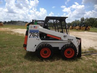 Bobcat 763C Skid Steer Loader Rubber Tire Wheel Loader Bob Cat 763