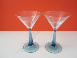 SET OF 2 BOMBAY SAPPHIRE Martini Cocktail Glasses