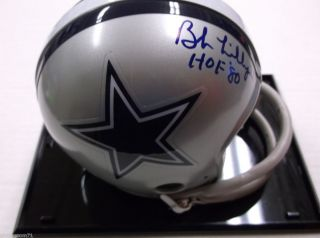 Bob Lilly Dallas Cowboys Autographed Mini Helmet COA included