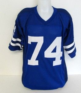 Bob Lilly Autographed Dallas Cowboys Blue Stat Jersey Cowboy for Life