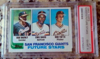 Bob Brenly Chili Davis Bob Tufts 1982 Topps Rookie RC San Francisco