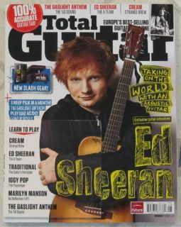 Total Guitar Ed Sheeran CD August 2012 Learn Marilyn Manson Cream Rush