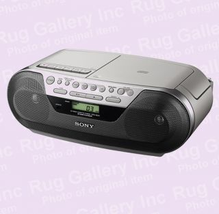 Sony CFD S05 CD Radio Cassette Player Boombox Audio LCD 3 5mm AUX for