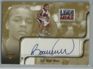 LiL Bow Wow 2001 02 Upper Deck Inspirations Autograph Like Mike