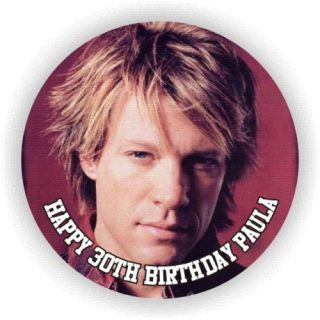 JON BON JOVI EDIBLE ICING BIRTHDAY CAKE TOPPERS