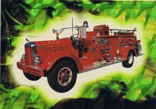 1993 Bon Air Fire Engines Prism Series 2 9 Chase Card