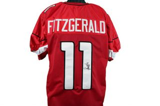 Larry Fitzgerald Autographed Arizona Cardinals Football Jersey JSA COA