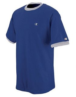 Champion Cotton Jersey Mens Ringer T Shirt Style T2232