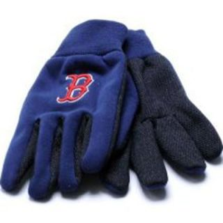 boston red sox baseball pair of licensed work gloves boston red sox