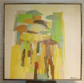 George Barrel, Italo Botti painting Abstract, Mid Century, Modern Oil