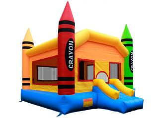 Grade Inflatable Crayon Jumper Jump Bounce House with Blower