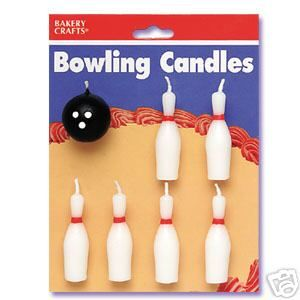 BOWLING BALL And PINS Birthday Party Cake Candle Supplies Topper
