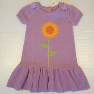 Gymboree Sunflower Smiles Purple Sweater Dress Size 3T