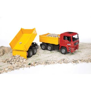 bruder man tga construction truck w trailer 02756 northern tool item