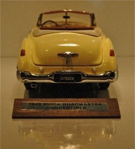 Franklin Mint 1949 Buick Roadmaster Convertible Yellow