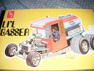 Vintage LiL Gasser Dragster AMT Kit Car Built Model Hot Rod Fueling