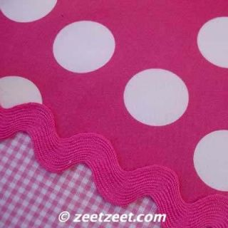 Robert Kaufman Pimatex Basics Big Polka Dot Hot Pink White Fabric yd