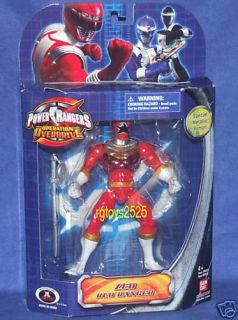 Power Rangers Zeo Red Ranger V New 6 5 Metallic Armor