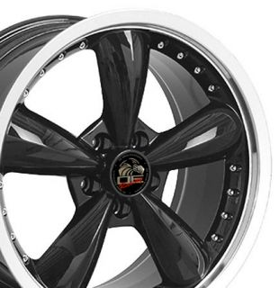 20 8 5 10 Black Bullitt Wheels Bullet Rims Fit Mustang® GT 94 04