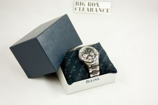 great bulova marine star mens watch 98b013 like new cosmetic and