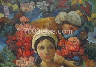 San Miguel 24X30 Philippine Vendors Pinoy Modern Art Oil Painting Free