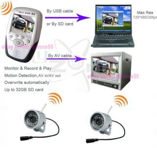 Wireless Camera 2 Mini Security Video DVR Motion Cam