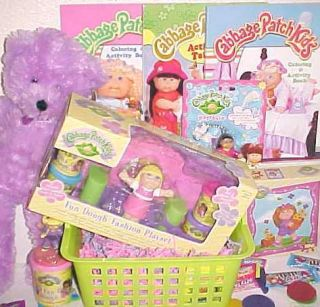 New Cabbage Patch Kids Toy Easter Gift Basket Toys Play Doh Set
