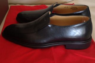 Bally CADDO Plain Black Leather Dress Loafer Rubber Sole