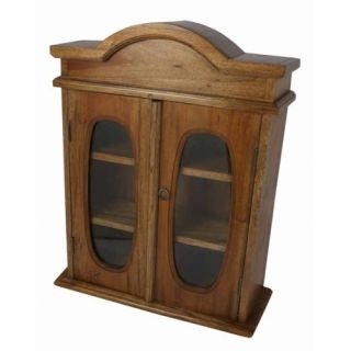 Antique Style Wooden Medicine Cabinet with Doors
