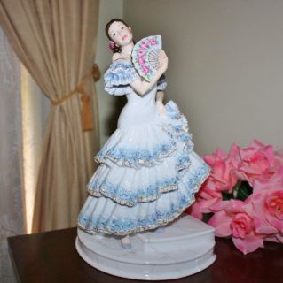 35cm Spanish Flamenco Dancer Figurine C w Prototype Photo Piece