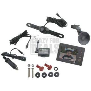 PEAK PKC0RB Wireless Car Back up License Plate Camera System w/ 3.5