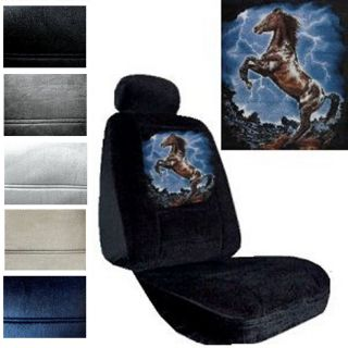 Seat Covers Car Truck SUV Lightning Horse Low Back PP 2