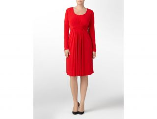 Calvin Klein Woman Long Sleeve Matte Jersey Dress Womens