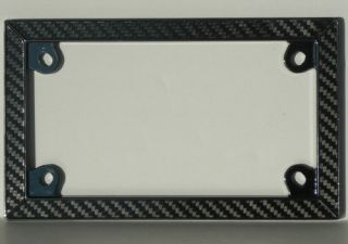 plate frame black chrome frame is made of metal with real carbon fiber